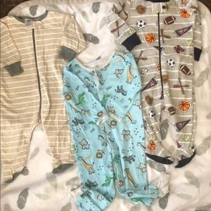 Size 0-3 months footed PJ